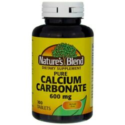 Nature#x27;s Blend Calcium Carbonate Tablets 600 mg 100 Ct $12.11