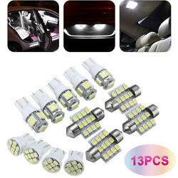 13pack LED Light Interior Package Kit for T10 & 31mm Map Dome + License Plate US