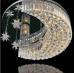 Modern K9 Crystal LED Moon Star Light Ceiling Lamp Chandelier Lighting $152.99