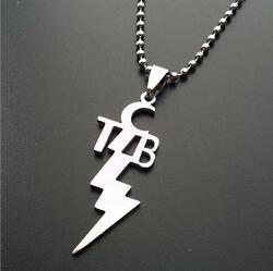 TCB NECKLACE Stainless Steel Pendant Charm Taking Care of Business Elvis Motto $6.95