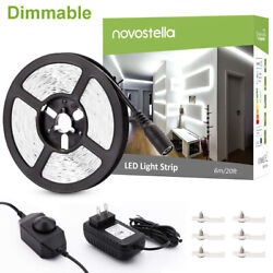 20ft 6m Dimmable LED Light Strip Kit white 360 2835 SMD 12V Under Cabinet Lights