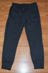PUMA Solid Charcoal Gray Lounge Jogger Leg Sweat Pants Size M