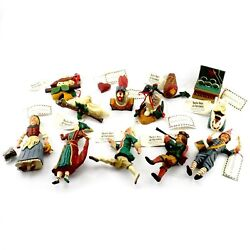 House of Hatten 12 Days of Christmas Complete 1997 Hand Painted Xmas Ornaments $800.00