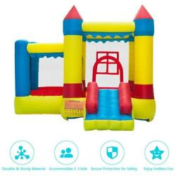 Inflatable Bounce House Castle Kids Jumper Slide Bouncer with Blower Ocean Ball