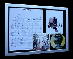 OASIS She's Electric LTD Nod CD QUALITY FRAMED DISPLAY+EXPRESS GLOBAL SHIPPING