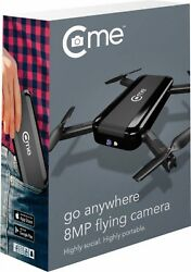 NEW C me Go Anywhere 8MP Flying Camera Pocket Drone Black easy fly cme selfie $63.95