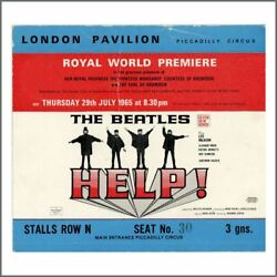 The Beatles 1965 HELP! Premiere Ticket (UK)