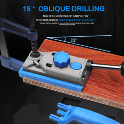 Self Centering Doweling Jig Kit Drill Guide Wood Hole Woodworking Joints Tool