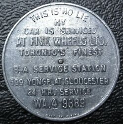 Vtg FIVE WHEELS LTD. Toronto Service Station ROUND & ROUND SHE GOES SPINNER