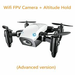 S9HW Mini Drone Camera HD Foldable RC Quadcopter Altitude Hold Wifi FPV White $32.99