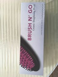 SHE by Beyond the Beauty- Brush N' Go Hair Brush Straightener All In One Pink
