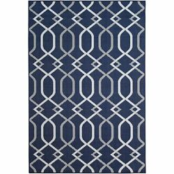 Brexely Home Navy (8'x10') Indoor  Outdoor Rug - 8' x 10'