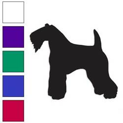 Kerry Blue Terrier Dog Decal Sticker Choose Color + Large Size #lg1973