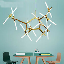Industrial Modern Metal Glass Branch Chandeliers Lighting Pendant Ceiling Light $116.99