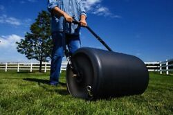 18x24 Poly Push or Tow Garden Lawn Roller 250lb Filled Weight Sod Grass Care
