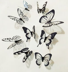 18 Pcs 3D Wall Butterfly Decal Sticker Decor Home Art Room Decorations Bedroom $6.99