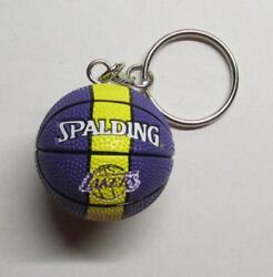 NBA Basketball Los Angeles LAKERS Spalding Ball KEY CHAIN Ring Keychain NEW $24.99