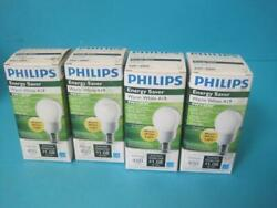 LOT OF 4 NEW PHILIPS LIGHT BULB LAMP EL A SWP 9 9W WARM WHITE 2700K ENERGY SAVER