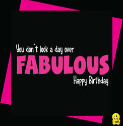 FUNNY NOVELTY BIRTHDAY RUDE CHEEKY CHOPS A day over fabulous C359 GBP 2.99