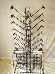 Vintage Trinity Oaks Metal Wine Bottle Rack Display Man Cave She Shed Bar