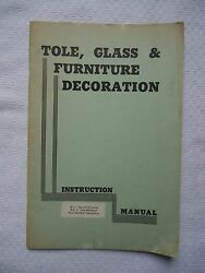 TOLE TINWARE GLASS & FURNITURE DECORATION INSTRUCTION MANUAL ANNA BUTLER BOOK
