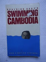Swimming to Cambodia by Spalding Gray 1985 Paperback Reprint $4.99