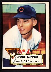 1952 TOPPS #127 PAUL MINNER CUBS ROOKIE
