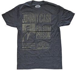 Johnny Cash Folsom Prison Vintage Distressed Design Men#x27;s T Shirt New $16.99