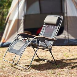 Zero Gravity Chair Oversized420 lbs Weight Capacity Patio Lounge Beach Camping