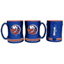 New York Islanders Coffee Mug Relief Sculpted Team Color Logo 14 oz NHL New