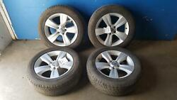 10-17 2016 JEEP COMPASS 17X6-12 5 SPOKE ALLOY WHEELS AND TIRES SET OF 4 2380D