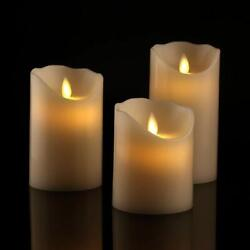 Antizer  Flickering Flameless LED Pillar Candles Moving Wick With Remote Timer