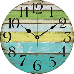 Large Indoor Outdoor Wooden Decorative Rustic Vintage Country Wall Clocks New