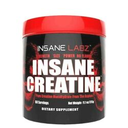 Insane Labz Creatine Monohydrate Strength Power Muscle Size 60 Serves UNFLAVORED