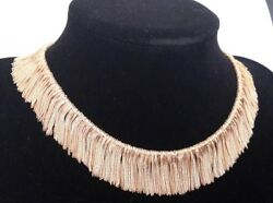 Very Heavy vintage 18ct Gold Fringe Necklace