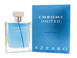 Chrome United by Azzaro 3.4 oz EDT Cologne for Men New In Box $24.15