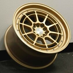 17 Inch Aodhan Ah04 Gold Wheels 17x9 5x100  5x114.3 +25 (Set 4)