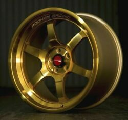 Aodhan Ah08 Gold Wheels 18x9.5 +30 5x100 Fit Subaru BRZ FRS 18 Inch Rims Set 4