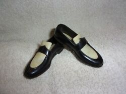 DOLL SHOES BLACK amp; WHITE DRESS SHOES HARD PLASTIC Boys Girls