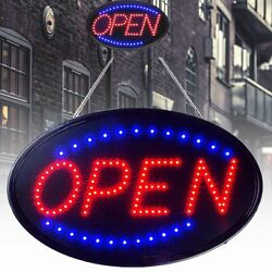 LED Ultra Bright Neon Light Sign OPEN Store Animated Motion Business Bars Cafes