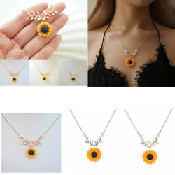 Creative Pearl Necklace Temperament Sunflower Pendant Mother's Day Gift Jewelry