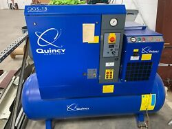 120 gallon 125 PSI 3 phase Quincy Compressor QGS-15 $6,800.00
