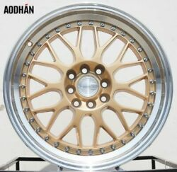 17x8 Gold Machined Lip  AH02 17