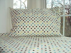 CONTEMPORARY HOME 2 Pcs Sheet Set Flat amp; Pillowcase POLKA DOT * $9.59