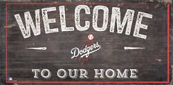 Los Angeles Dodgers Welcome to our Home Wood Sign 12