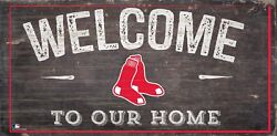 Boston Red Sox Welcome to our Home Wood Sign - New 12