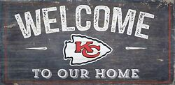 Kansas City Chiefs Welcome to our Home Wood Sign - 12