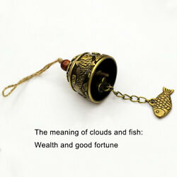 Propitious Mini Carp Pattern Fish Pendent Hanging Wind Chime Lucky Bell Decor PR