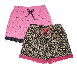 Love To Sleep Women's 2 Pack Lace Detail Pajama Shorts Size S M L XL $16.19