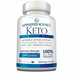 90 Approved Science Keto: Pure Exogenous 4 Ketone Salts (Calcium Sodium)